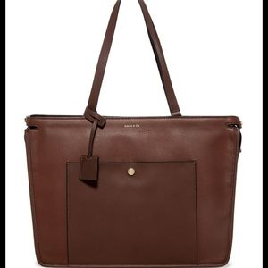 Louise et Cie Brown Leather Tote